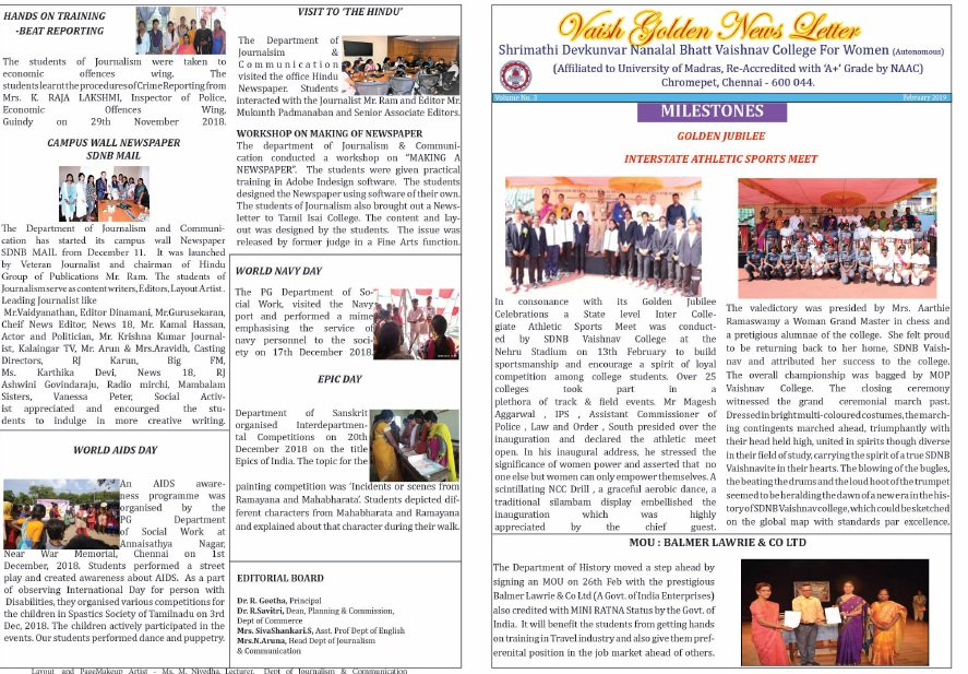 Vaish Golden Newsletter Feb 2019