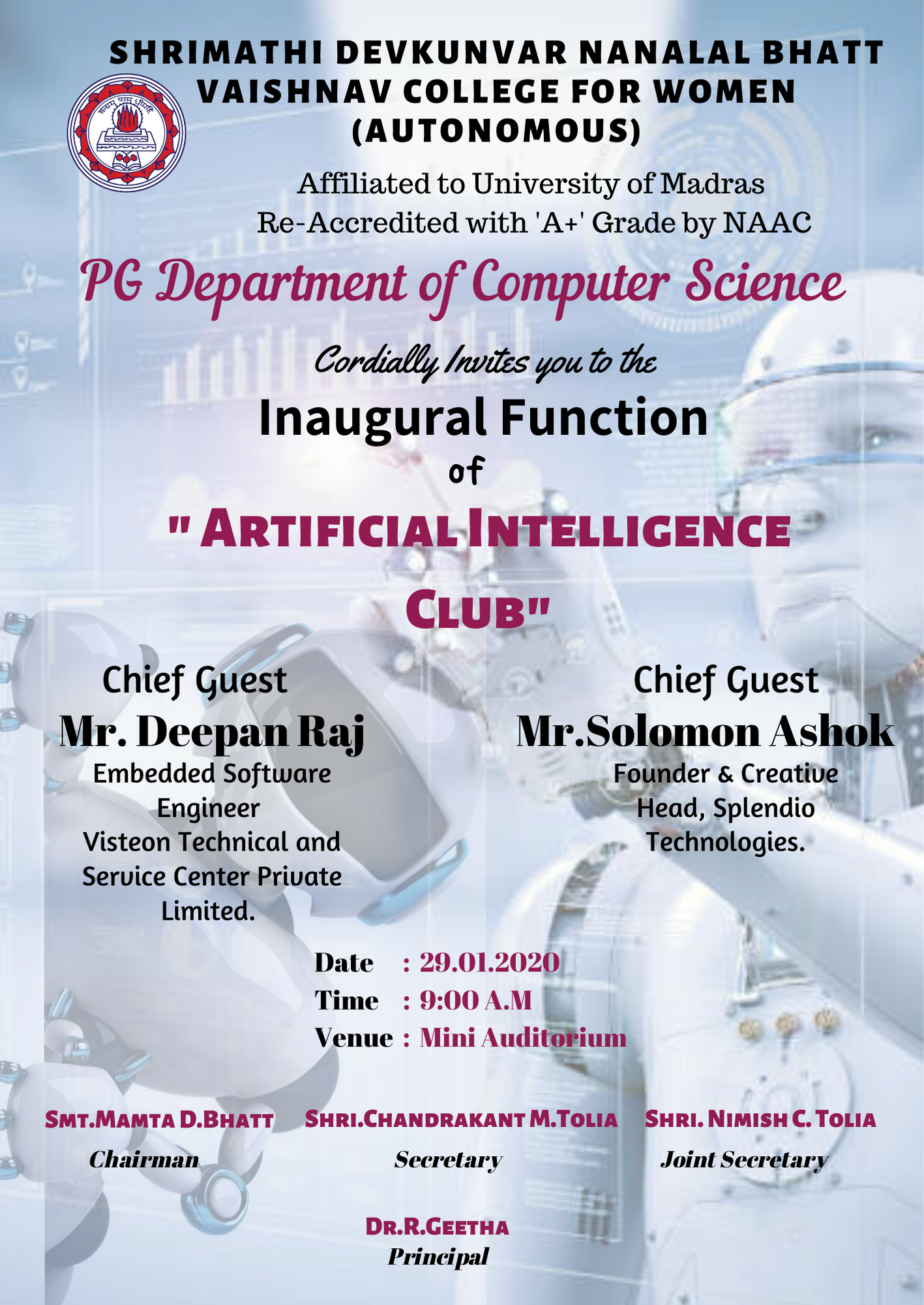 AI  Club – Inauguration