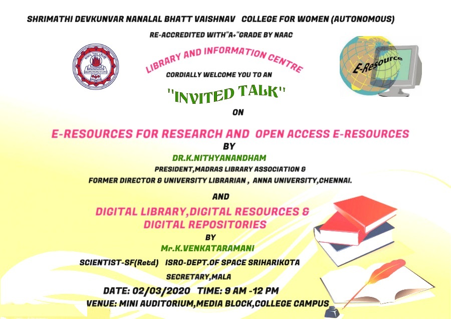 Invited Talk on Digital Library-Librarian Dept
