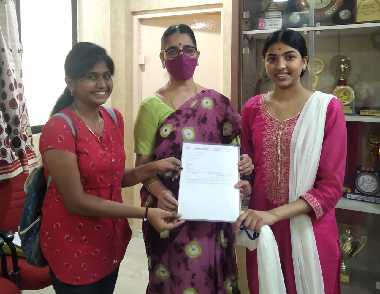 Students from the Department of Mathematics have cleared IIT JAM 2021