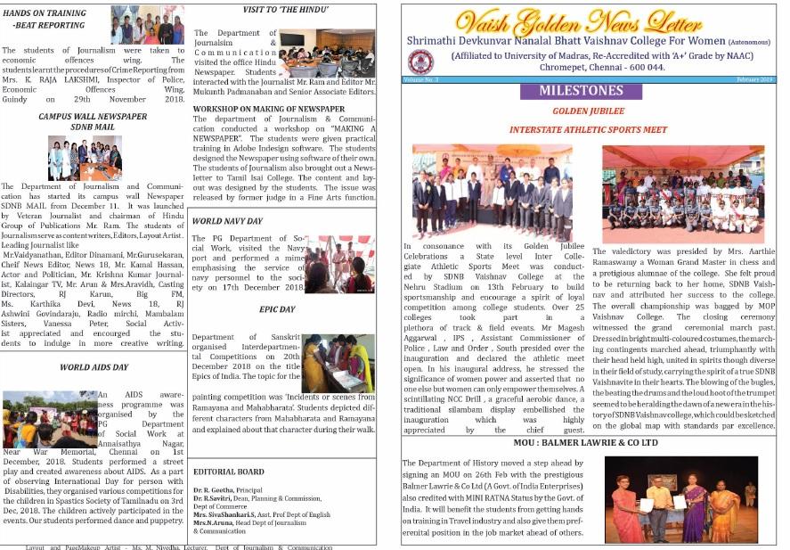 Vaish Golden Newsletter Feb 2019